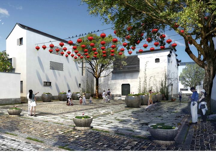 [浙江]杭州富阳场口镇东梓关村居住区景观概念设计方案文本