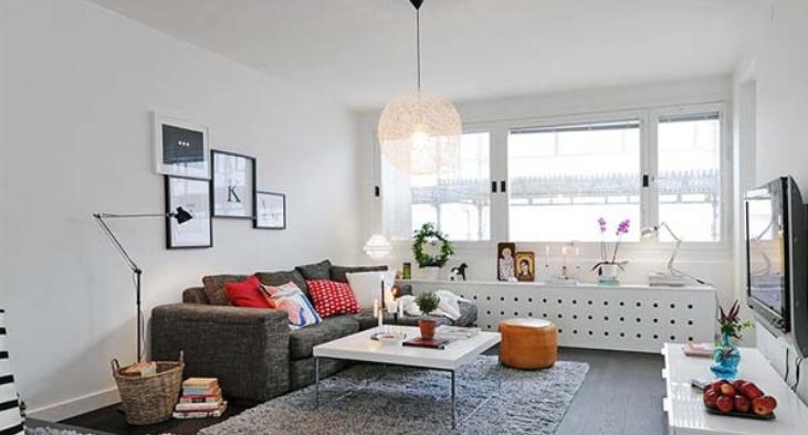 北欧式时尚简洁两室两厅室内设计实景图(18张)