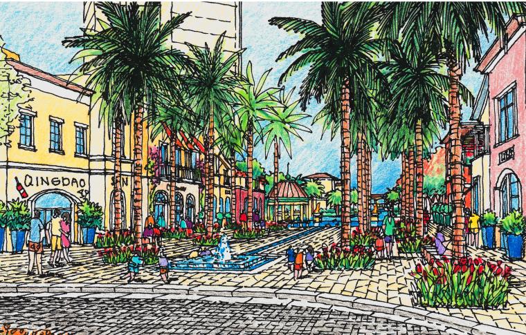 [海南]龙沐湾国际旅游度假村方案设计-效果图2