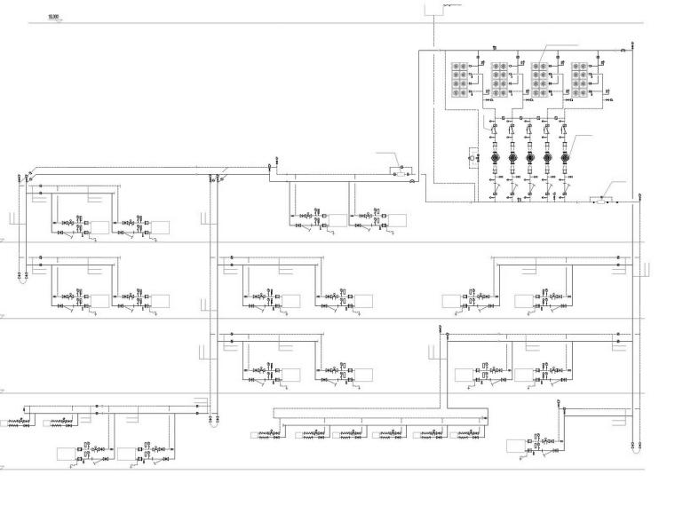 [江西]大型商业街整套暖通空调全系统设计施工图(人防、机房设计)