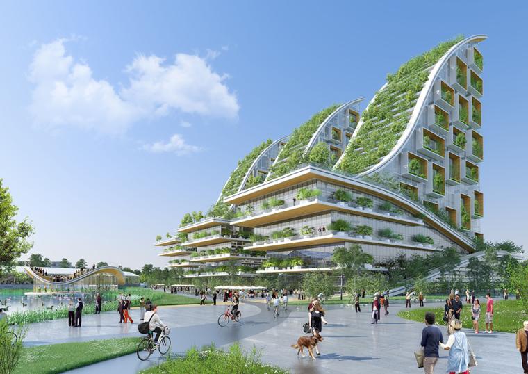 比利时多功能生态社区景观