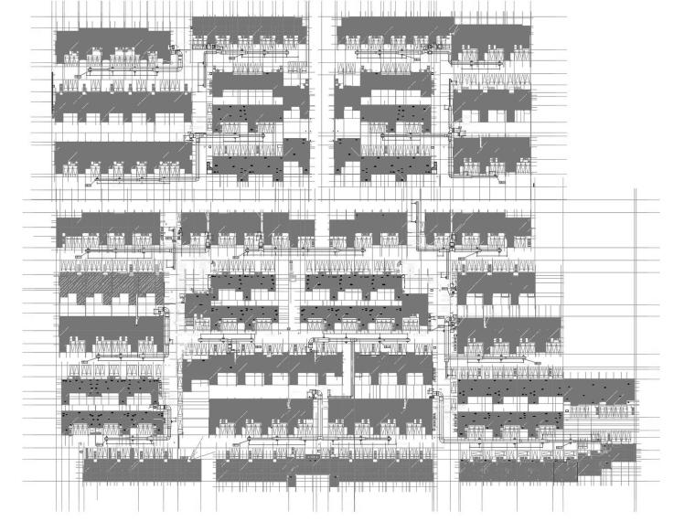 [浙江]大型住宅小区24栋全套暖通系统设计施工图(125张)