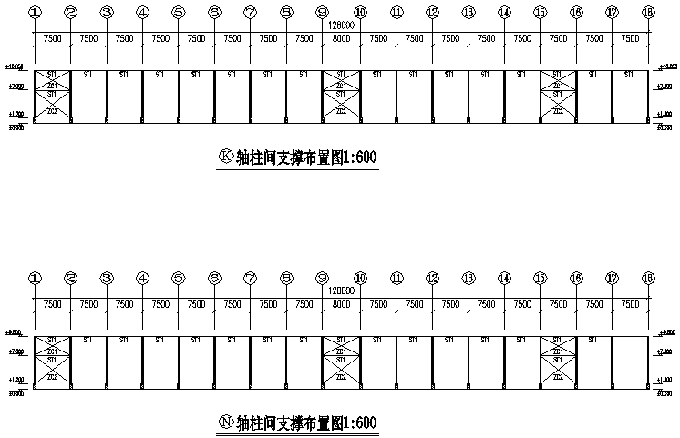 华辉公司单层单山单跨门式刚架厂房工程(CAD,12张)_4