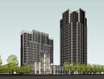 新古典风格多层建筑模型设计