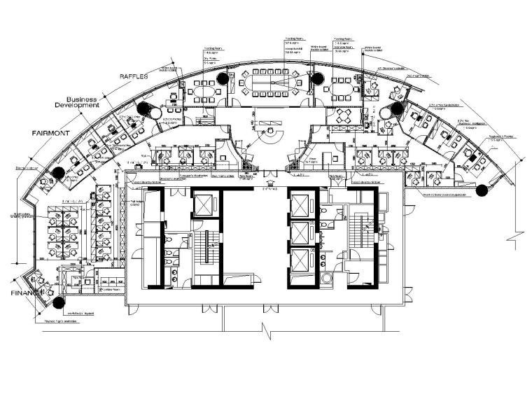 现代简约风格办公空间概念施工图设计(附效果图+概念文本)