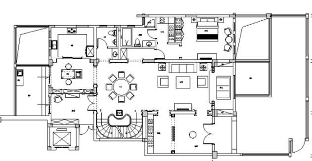 [江苏]美式新古典500平米跃层公寓设计施工图(附效果图)