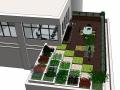 屋顶花园庭院3d模型下载