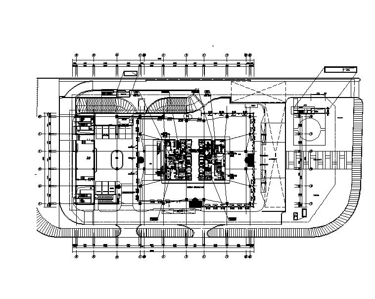 上海二十一层大型办公楼暖通施工图