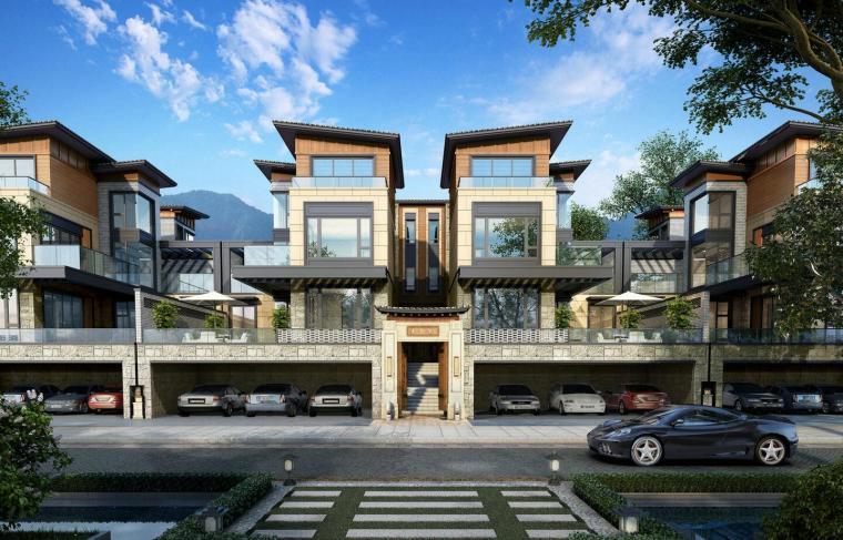 [四川]成都都江堰万达城一期别墅居住区模型设计(2018年)