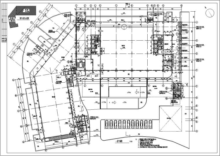 某酒店建筑设计施工图全套(CAD文件)