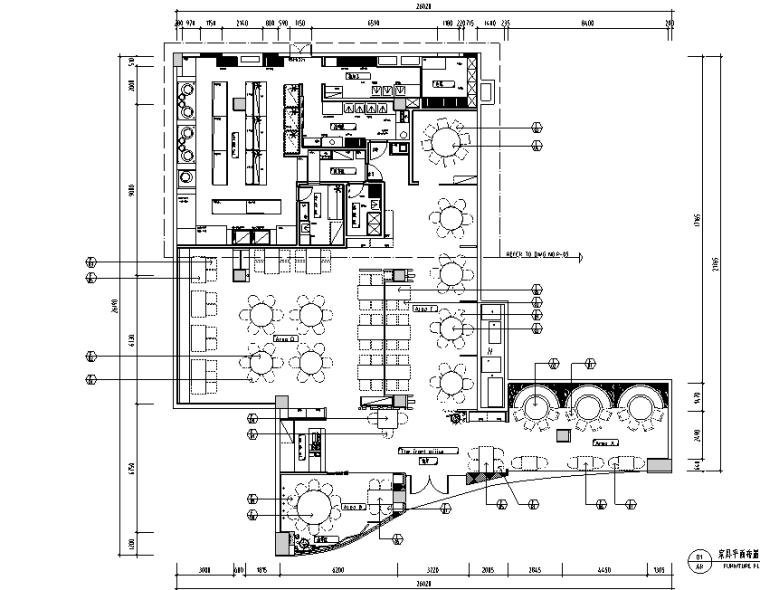 新中式经典客家餐厅菜馆设计施工图(附效果图)