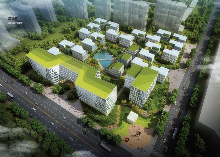 [上海]水石国际绿地沪北物流园建筑设计方案文本