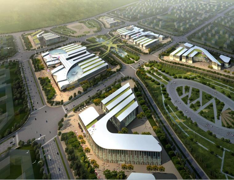 [上海]上海庙镇核心商业区建筑群方案设计文本