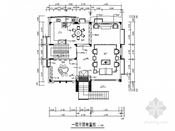 [广州]环境优雅别墅区新中式风格三层别墅装修施工图