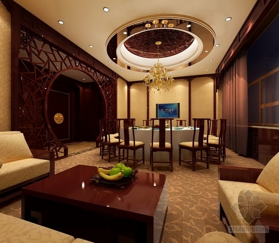 [内蒙古]首家四星级假日商务酒店CAD室内装修施工图(含效果)效果图