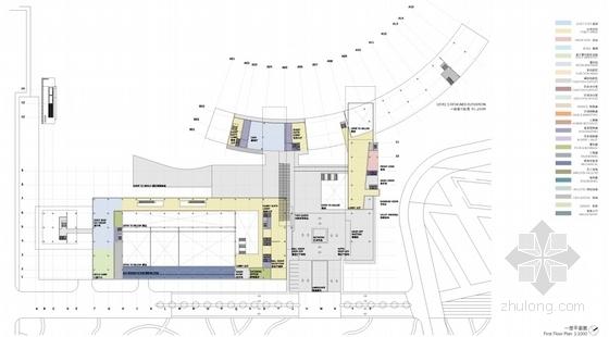 [三亚]弧线型度假酒店及豪华别墅区规划设计方案文本-弧线型度假酒店及豪华别墅区规划平面图