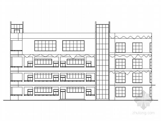 [四川]4层市级现代风格幼儿园教学楼建筑设计施工图(两栋教学楼)