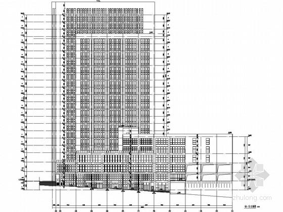 [重庆]22层框剪结构知名大学出版社大楼结构图(含建筑图 pkpm计算书 抗震参数表)