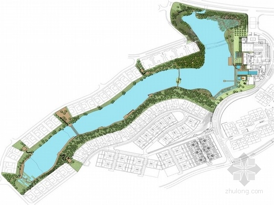 [深圳]东方式奢华住宅及内湖景观规划方案
