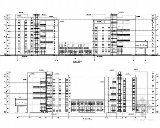 [武汉]211重点大学经济管理大楼结构施工图(含建筑图 2栋大楼)