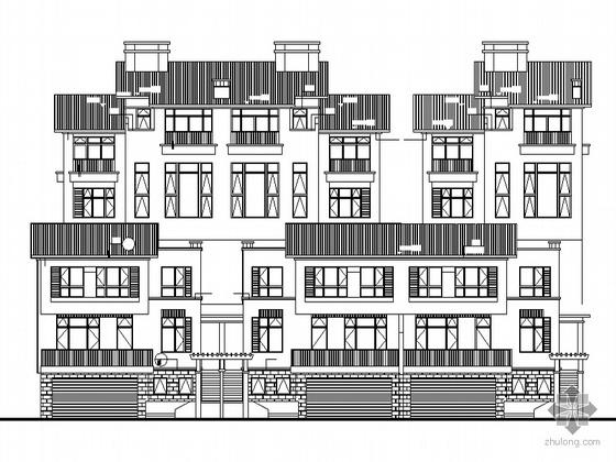 [南京]某海岸项目叠院拼接别墅建筑施工图(D10、D11型)