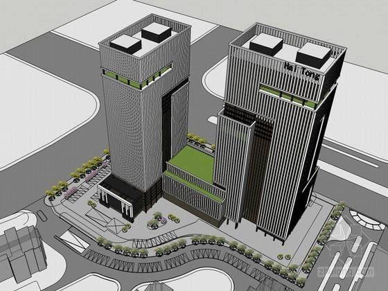 集团大厦SketchUp模型下载