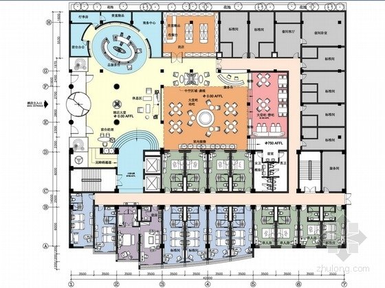 [山西]市中心风光幽美最佳星级高档酒店室内设计方案