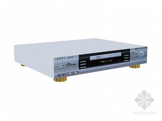 VCD播放器3D模型资料下载-老式播放器3D模型下载