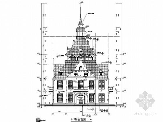 奥地利风情酒店结构施工图(含建筑图)
