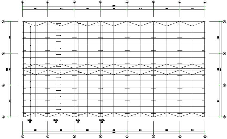 一体化项目EPC临时办公室轻型门式刚屋架结构(CAD,16张)