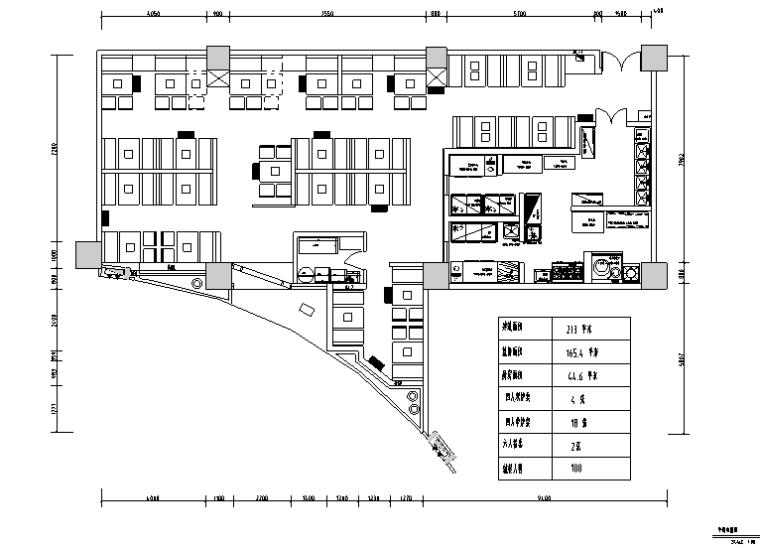 某餐饮焖锅全套餐饮施工图(含效果图,CAD预览图)