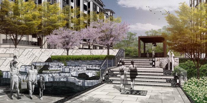 """[江苏]""""诗意山居""""住宅居住区景观设计方案"""