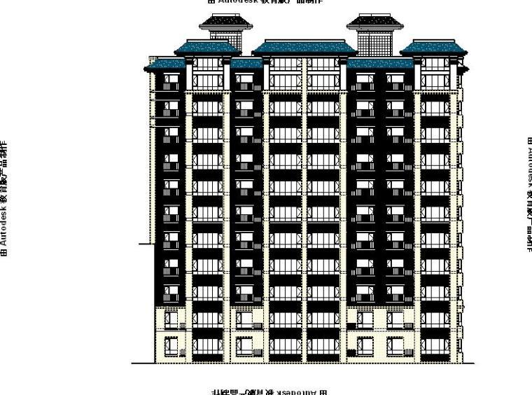 [宁夏]框剪结构多高层住宅及商业建筑施工图