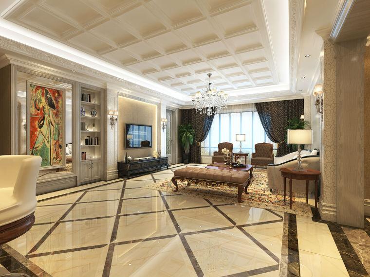 [案例鉴赏]成都半岛城邦270平米美式风格装修,造价29万