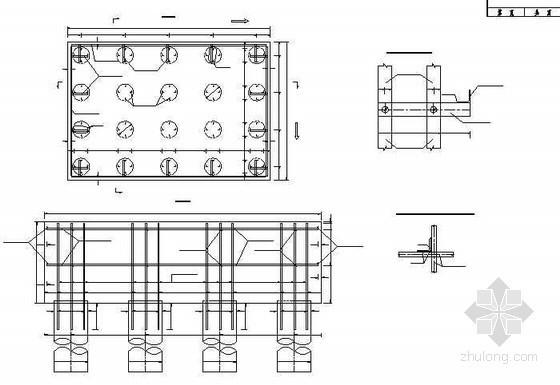 连续钢构箱梁特大桥桥墩承台支撑型钢布置节点详图设计