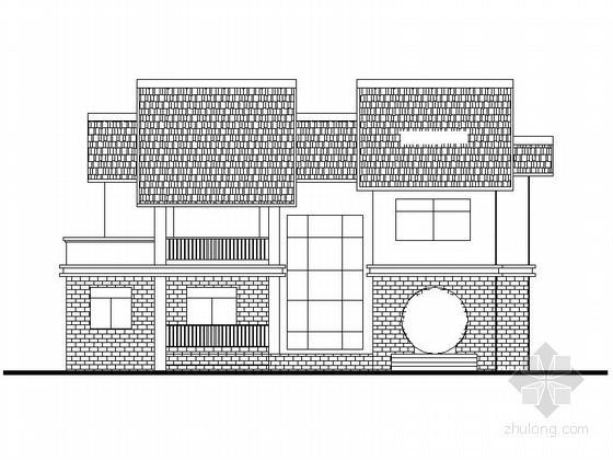 某山庄二层中式别墅建筑施工图(342平方米)