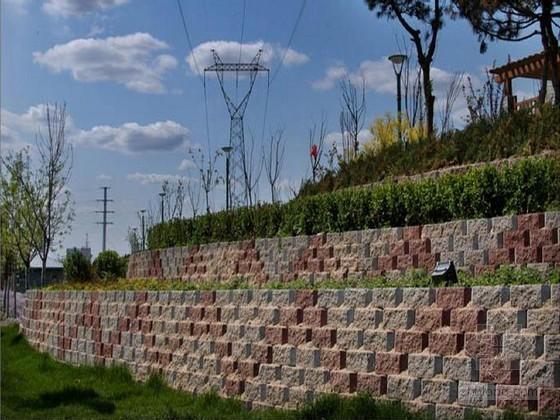 城市片区道路仰斜式挡土墙大样图CAD