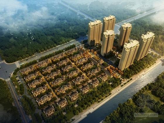 [山东]欧式风格住宅区规划及单体设计方案文本