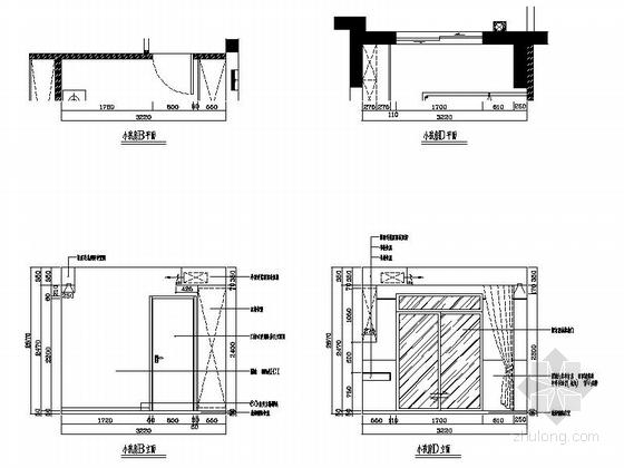 [湖南]温馨现代130平四居室室内装修施工图小孩房立面图