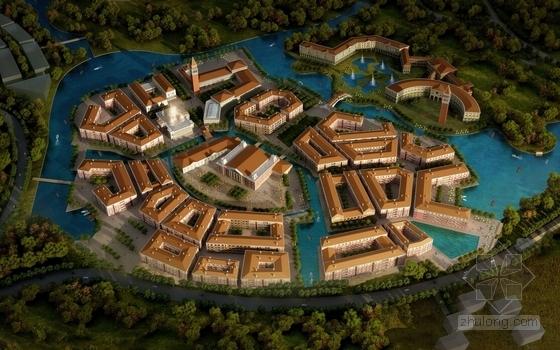 绿色生态旅游城规划效果图