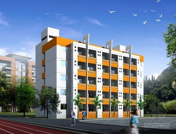 [四川]4层框架结构教学楼建筑及装饰工程预算书(详细工程量计算图纸)