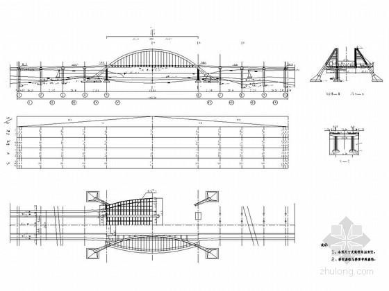 1-55m中承式系杆拱桥全套施工图(61张)