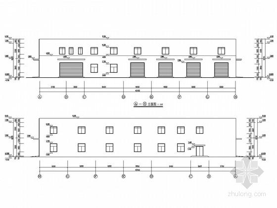嘉年华游乐园框架结构维修车间全套图纸