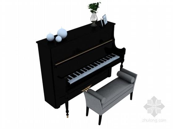现代钢琴3D模型下载