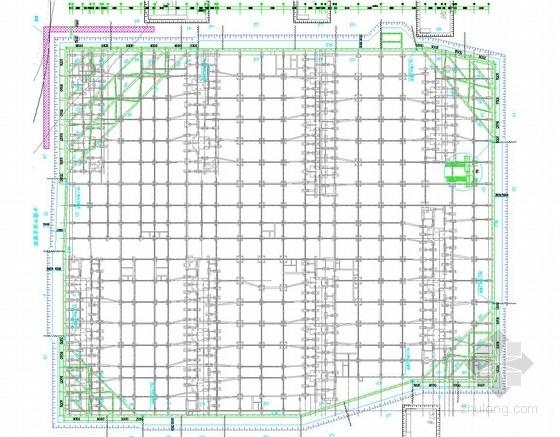 [浙江]排桩加土层锚杆及排桩加角撑基坑支护施工图