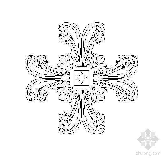 欧式雕花图块8