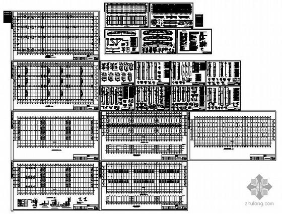 某24米跨混凝土柱钢梁结构厂房图纸