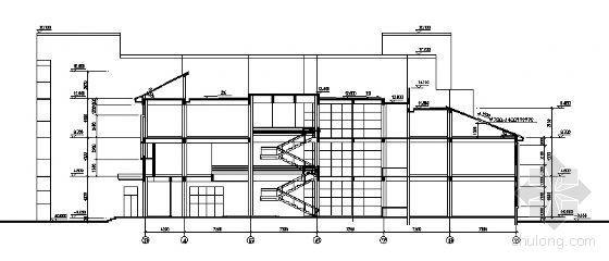 某四层图书馆建筑设计方案图-2
