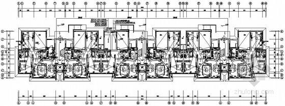 [天津]大型住宅小区电气图纸150张(含17栋楼、地下室、公建用房)