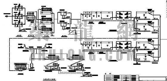 某污水厂MSBR工艺,高程及管线图